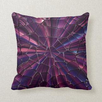 Torn look purple pillow cushions