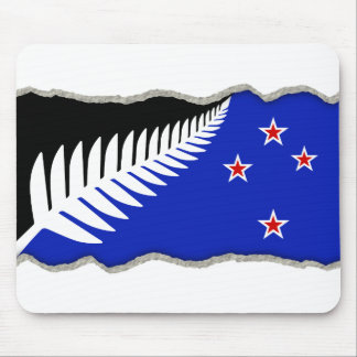 torn paper new zealand flag mouse mat