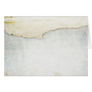 torn paper on wall background blue card