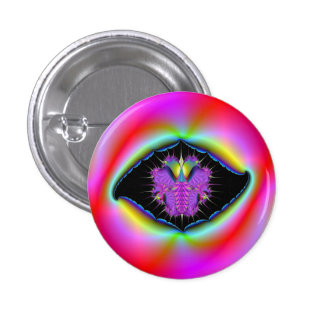 Torn Psychedelic Picture Frame Button