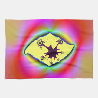 Torn Psychedelic Picture Frame Kitchen Towels