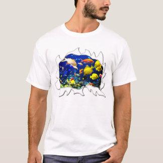 Torn Shirt Aquarium Tropical Fish Funny Humor