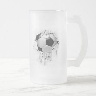 Torn Soccer Frosted Beer Mug