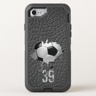 Torn Soccer (personalized) OtterBox Defender iPhone 8/7 Case
