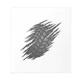 Torn Tyre Notepad