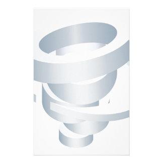 Tornado Cyclone Hurricane Twister 3d Icon Stationery