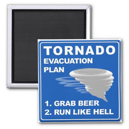 Tornado Evacuation Plan ;-) Magnet
