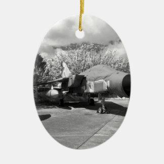 Tornado jet aircraft ceramic oval decoration