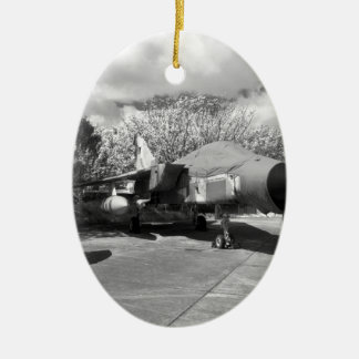 Tornado jet aircraft christmas ornament