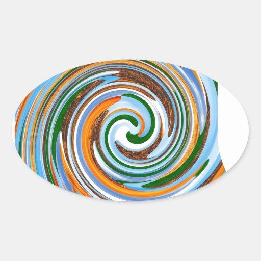 Tornado Revolution Waves : Nature Blaast Beautiful Oval Sticker