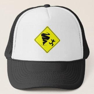 Tornado Warning Sign Trucker Hat