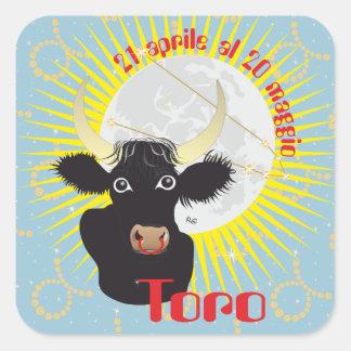 Toro 21 April Al 20 maggio Etichetta Square Sticker