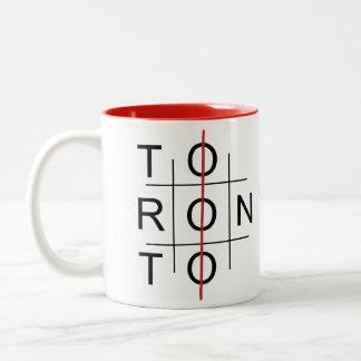 Toronto as a tic tac toe game Two-Tone mug