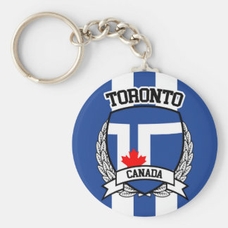 Toronto Basic Round Button Key Ring