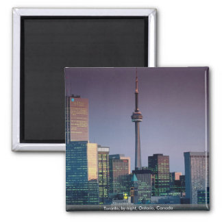 Toronto, by night, Ontario, Canada Magnet