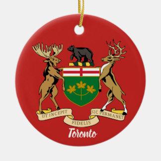 Toronto Canada Crest Christmas Ornament