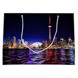 Toronto, Canada Night Skyline Large Gift Bag