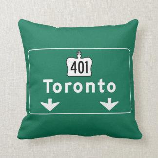 Toronto, Canada Road Sign Cushion