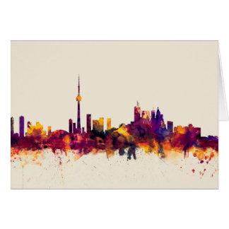 Toronto Canada Skyline Card