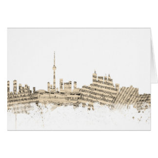 Toronto Canada Skyline Sheet Music Cityscape Card