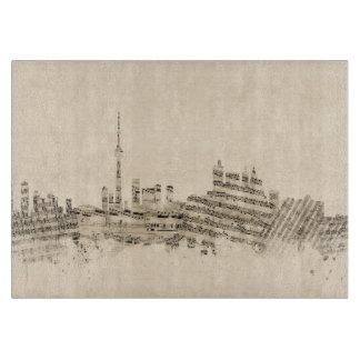 Toronto Canada Skyline Sheet Music Cityscape Cutting Board
