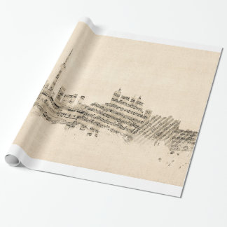 Toronto Canada Skyline Sheet Music Cityscape Wrapping Paper
