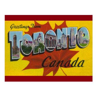 TORONTO CANADA - Vintage Travel Art Postcard