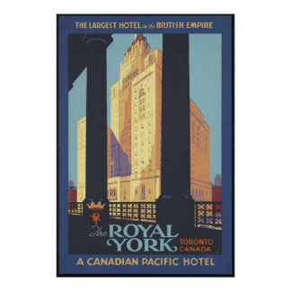 Toronto Canada Vintage Travel Poster Ad Retro