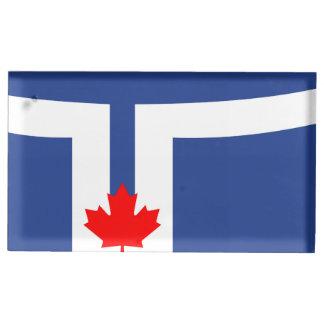 Toronto city flag canada symbol table number holder