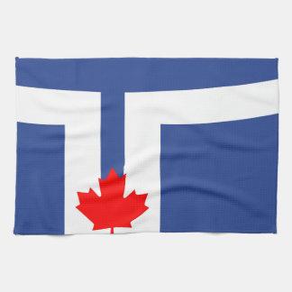Toronto city flag canada symbol tea towel