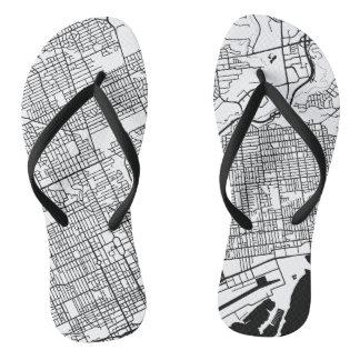 TORONTO City Map Flip Flops