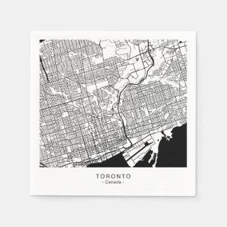 TORONTO City Map Paper Napkins