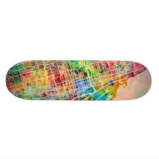 Toronto City Street Map 21.6 Cm Old School Skateboard Deck