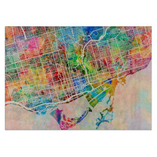 Toronto City Street Map Cutting Board
