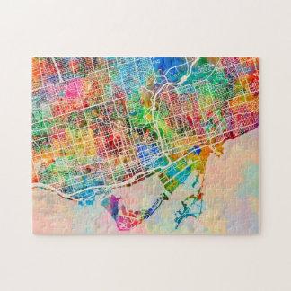 Toronto City Street Map Jigsaw Puzzle