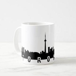 toronto cityscape canada city symbol black silhoue coffee mug