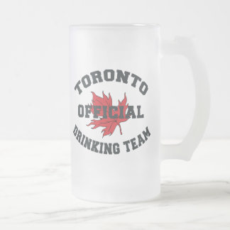 Toronto Drinking Team Frosted Glass Beer Mug