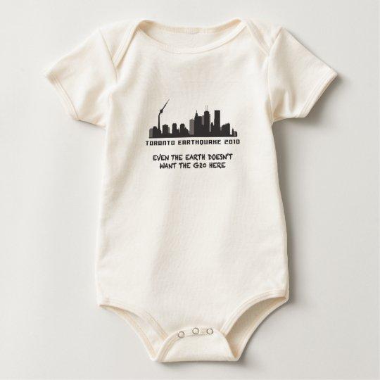 Toronto Earthquake 2010 Baby Bodysuit