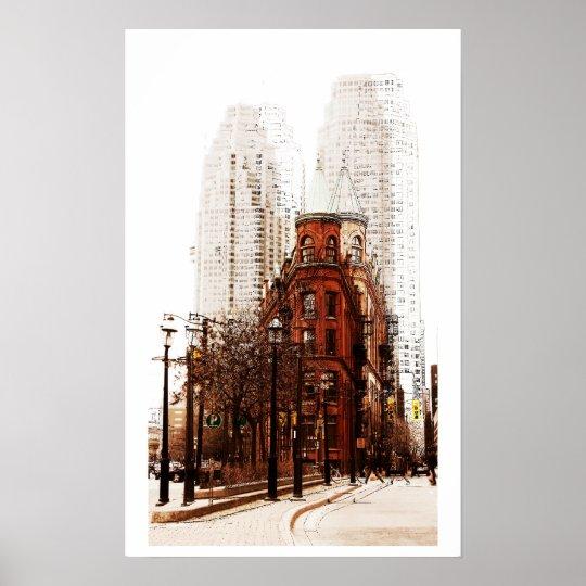 Toronto flat iron building print