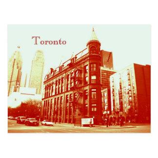 Toronto flatiron building postcard