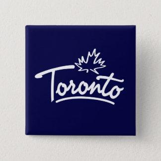 Toronto Leaf Script 15 Cm Square Badge