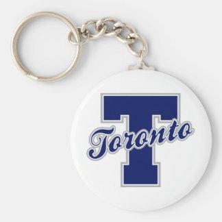 Toronto Letter Basic Round Button Key Ring