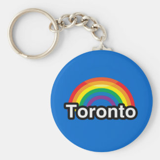 TORONTO LGBT PRIDE RAINBOW KEYCHAIN