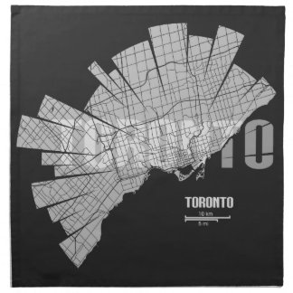 Toronto Map Printed Napkin