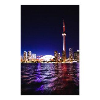 Toronto Night Skyline Stationery