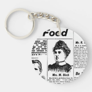 Toronto people vintage newspaper charm Double-Sided round acrylic key ring