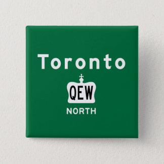 Toronto QEW 15 Cm Square Badge
