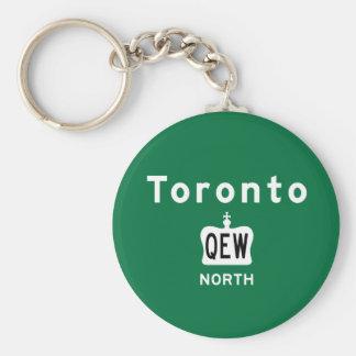 Toronto QEW Basic Round Button Key Ring