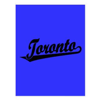 Toronto script logo in black postcard