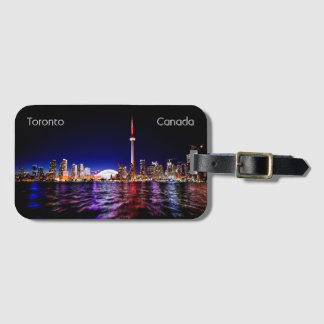 Toronto Skyline After Sunset Luggage Tag